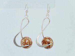 Boucles d'oreilles céramique Clé de Sol